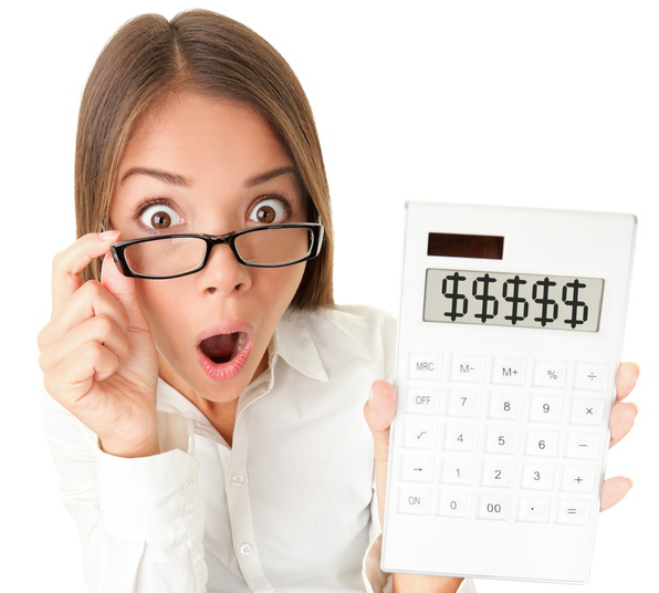 new_Business woman accountant shocked Small